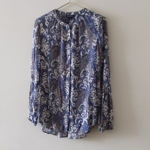 Lucky Brand live in love Blouse Button Down Size S